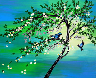 Tree Art Drawing - For Ever And Ever Us by Cathy Jacobs