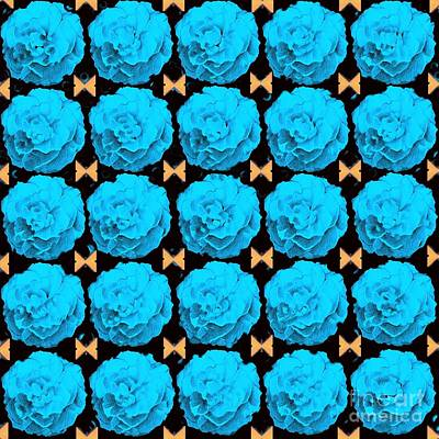 Digital Art - For Every Blue Rose There Is A Butterfly by Helena Tiainen