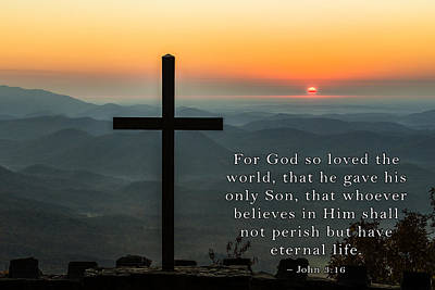 Photograph - For God So Loved The World by David Simchock
