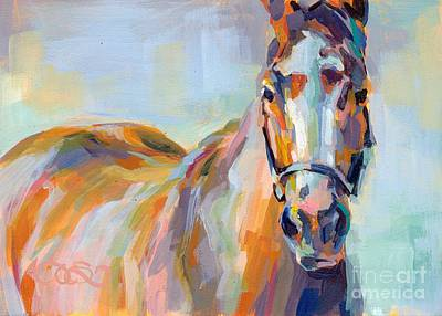 Racehorse Painting - For Her Eyes Only by Kimberly Santini