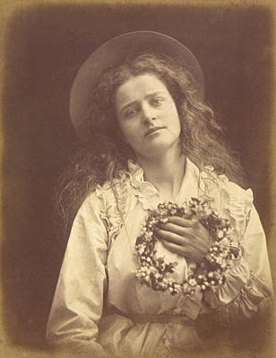 Selling Buying Online Photograph - For I'm To Be Queen Of The May Mother I'm To Be Queen Of The May by Julia Margaret Cameron