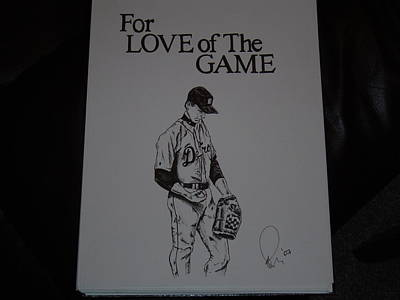Baseball Drawing - For Love Of The Game by Raymond Nash