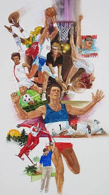 For Love Of The Games Art Print by Chuck Hamrick
