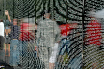 Vietnam Veterans Memorial Wall Photograph - For My Country by Carolyn Marshall
