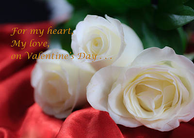 Photograph - For My Heart Valentine Color by Joni Eskridge
