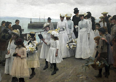 For Of Such Is The Kingdom Of Heaven Art Print by Frank Bramley