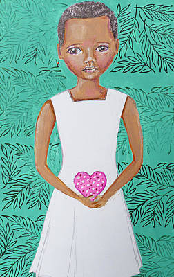 Child Mixed Media - For Our Congo Girl by Lynn Colwell