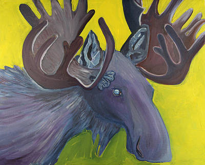 For Purple Mooses Majesty Art Print by Amy Reisland-Speer