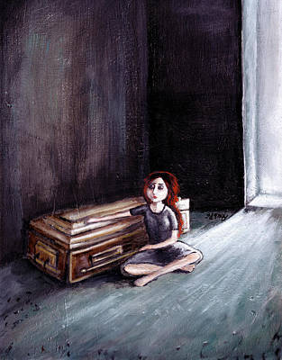 Sad Painting - For Some Moments In Life There Are No Words. by Rouble Rust