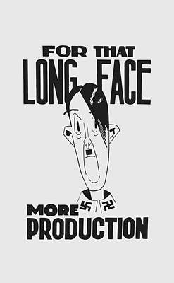 Caricature Mixed Media - For That Long Face - More Production by War Is Hell Store