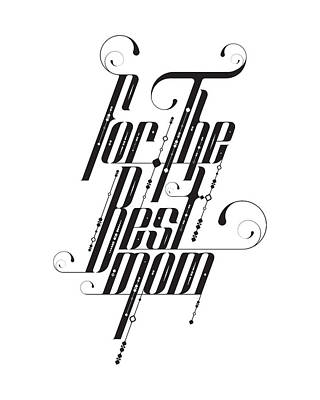 For The Best Mom Art Print by BONB Creative