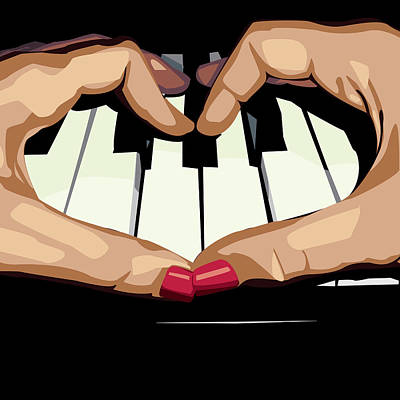 Digital Art - For The Love Of Music by Alexis Kadonsky