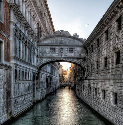 Photograph - Sunset Over The Bridge Of Sighs by John Hoey