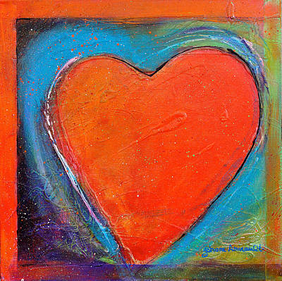 Abstrait Painting - For You Heart 2 by Johane Amirault