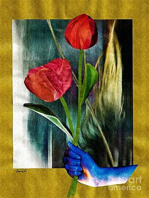 Tulips Mixed Media - For You by Sarah Loft
