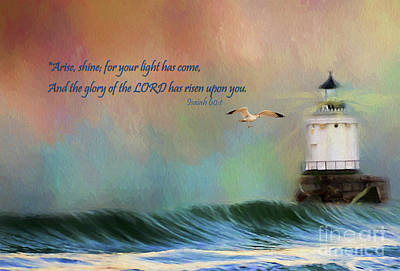 Nautical Digital Art - For Your Light Has Come by Darren Fisher