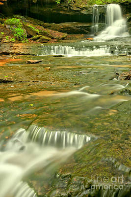 Photograph - Forbes Cave Falls by Adam Jewell