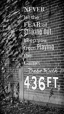 Mazeroski Photograph - Forbes Field - Inspirational Quote by Stephen Stookey