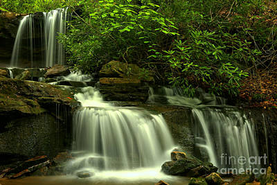 Photograph - Forbes State Forest Waterfall by Adam Jewell