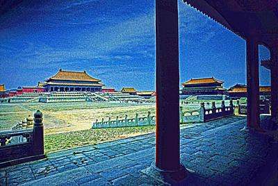 Forbidden City Porch Art Print by Dennis Cox ChinaStock