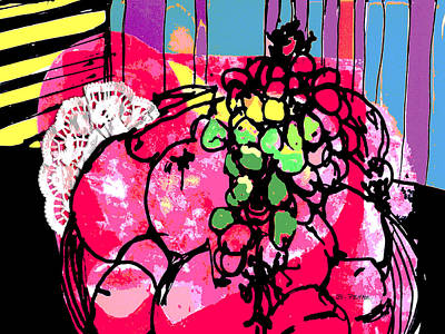 Merging Painting - Forbidden Fruit by Betty Pehme