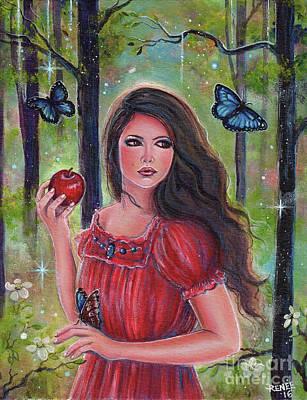 Forbidden Fruit Art Print by Renee Lavoie