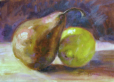 Pears Painting - Forbidden Love by Tracie Thompson