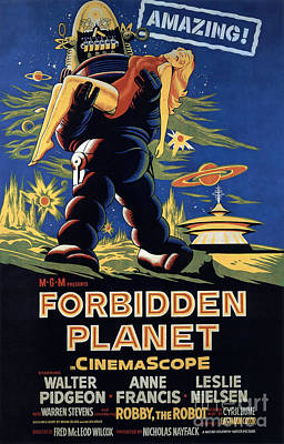 Photograph - Forbidden Planet Amazing Poster by R Muirhead Art