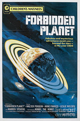 Painting - Forbidden Planet Classic Movie Poster by R Muirhead Art
