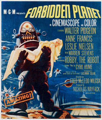 Forbidden Planet, Left Robby The Robot Art Print by Everett