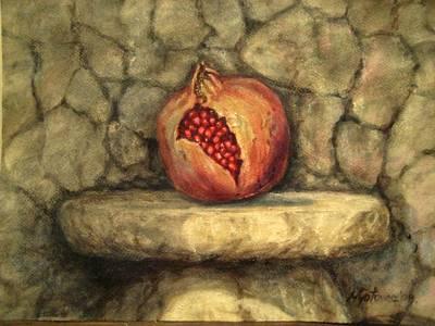 Painting - Forbidden Pomegranete by Mirjana Gotovac