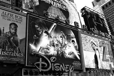 Force Awakens On Times Square Art Print by John Rizzuto