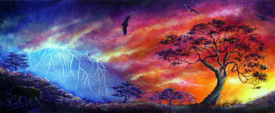 Force Of Nature Art Print by Ann Marie Bone