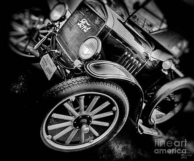 Photograph - Ford 001 Black And White by David Millenheft