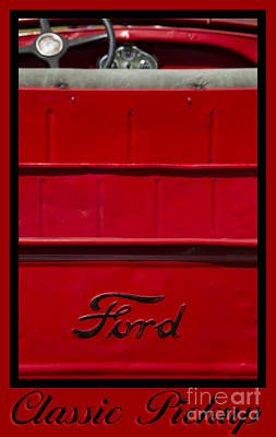 Photograph - Ford 18-classic Pickup by Wendy Wilton