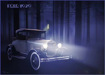 Digital Art - Ford 1929 by Hay Rouleaux
