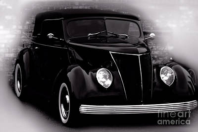Photograph - Ford 1937 Tudor Sedan  by Baggieoldboy