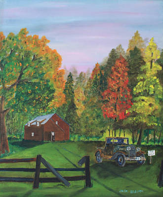 Painting - Ford 4 Sale by Jack G  Brauer