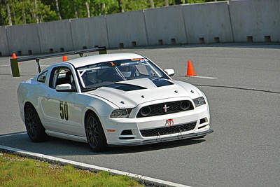 Photograph - Ford 50 Exits Turn 1 by Mike Martin