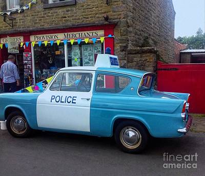 Photograph - Ford Anglia Police Panda Car by Joan-Violet Stretch