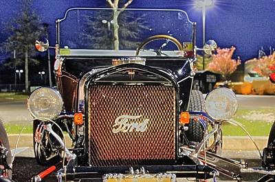 Classic Car.hot-rod Photograph - Ford Black Hot Rod Old School by Pictures HDR