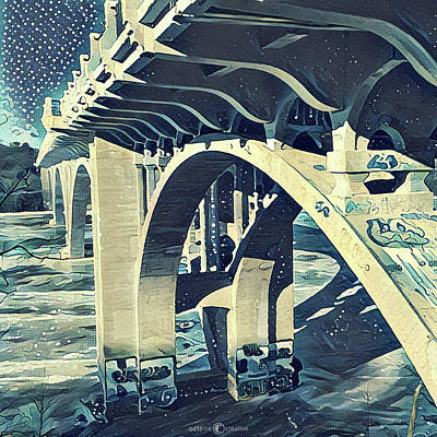 Painting - Ford Bridge Winter 2 by Tim Nyberg