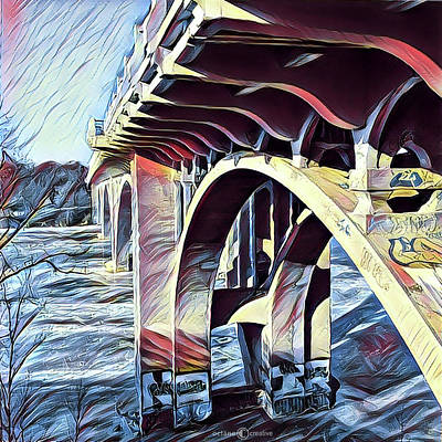 Painting - Ford Bridge Winter by Tim Nyberg
