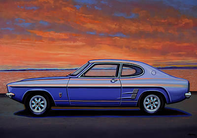 Painting - Ford Capri 1969 Painting by Paul Meijering