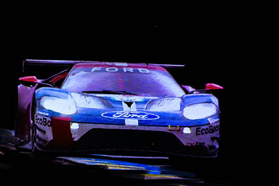 Digital Art - Ford Chip Ganassi Team Usa by Roger Lighterness