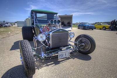 Photograph - Ford Classic Pov-r-t Automobile by John King