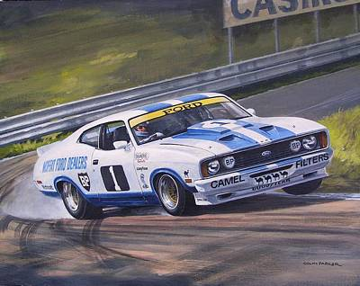 Painting - Ford Cobra - Moffat Racing  by Colin Parker