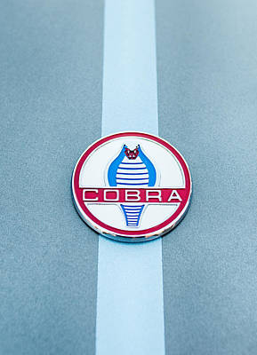 Photograph - Ford Cobra Hood Emblem by Rospotte Photography