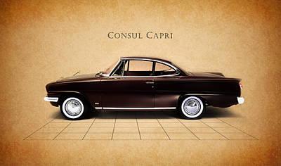Capri Photograph - Ford Consul Capri by Mark Rogan