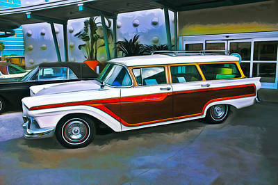 Photograph - Ford Country Squire Station Wagon by Carlos Diaz